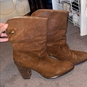 Ugg heeled brown boots